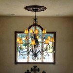 Chandelier in window